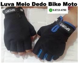 Luvas Unissex Bike Moto Meio Dedo Crossfit Cordas Remo Cabo de Guerra