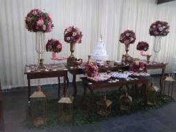 Buffet de casamento com salão e decoração em promoção