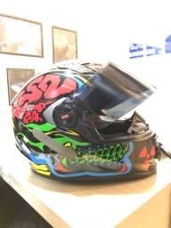 Capacete LS2 crazy skull N58 zero