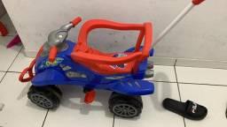 Moto infantil (vira velotró). Aceito cartão