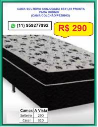 Cama Box Solteiro direto da Fabrica por R$ 290