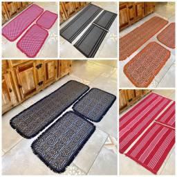 Conjuntos de tapetes para cozinha 3 peças