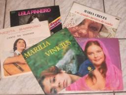 LPs - Cantoras Famosas MPB (Liquida: 5 LPs)