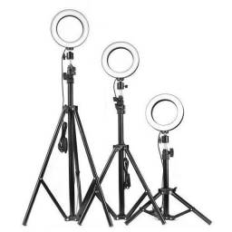 Iluminador Ring Lingt 26cm + suporte central + Tripé