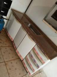 01 pia de cozinha com armário