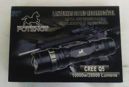 Lanterna Tática recarregável Compacta Led Cree Q5