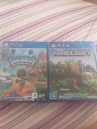 Sackboy e minecraft ps4 lacrados