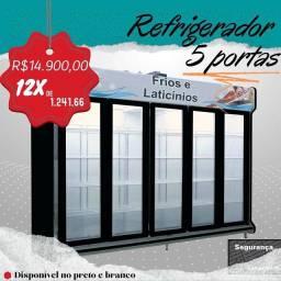PROMOÇÃO  refrigerador novo 5 portas polofrio