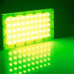 Refletor Led Flood Ligth Ip67 50w Luminosidade Verde