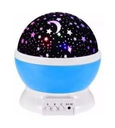 Globo de Luz Galaxia Projetor Estrelas Giratório Sideral
