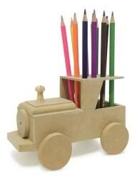 Caminhão Mdf Porta Lápis Infantil