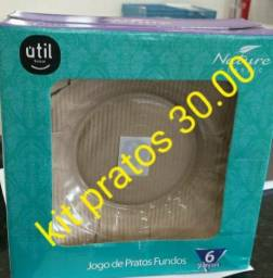 Kit 6 pratos Duratex 30,00