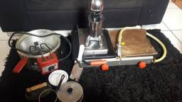 Fritadeira elétrica e chapa a gás ( progás)