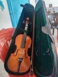Violino semi novo trocar e venda aceita cartão valor 450
