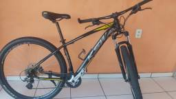 Bike ksw cor preto c/ amarelo aro 29
