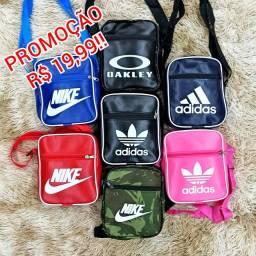 Pochetes de ombro Nike, Adidas, Oakley e Puma, diversas cores