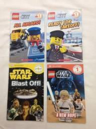 Título do anúncio: 4 Livros Schoolastic Readers Star Wars Lego Bom Estado