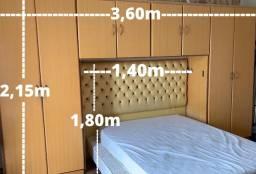 Guarda Roupa Casal Marfim e Cabeceira para cama Queen