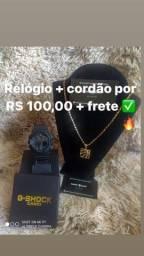 Relógio + cordão por apenas 100,00 reais