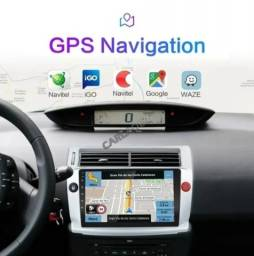 Multimídia C4 Pallas Hatch Vtr GPS Wi Fi Câmera Ré Interface Volante