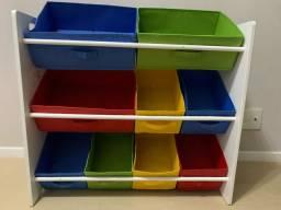 Organizador Infantil Caixas Coloridas Guarda Brinquedo IMPECÁVEL