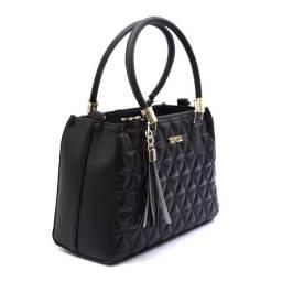 Bolsa Feminina modelo Lorena linha Tropical Casual Black
