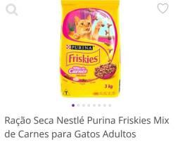 Ração gatos Whiskas castrados e Frikies