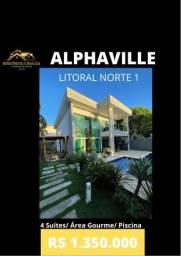 Casa 4 Suítes Alphaville Litoral Norte 1