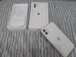 IPHONE 11 BRANCO 128GB  R$ 4.400 SEMI NOVO *