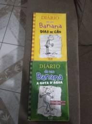Livros diário de um banana a gota d'água e dias de cão