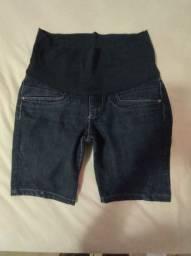 Bermuda jeans gestante Tam 38