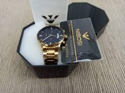 Relógio de luxo NIBOSI (C/ Cronógrafo) Dourado/Preto