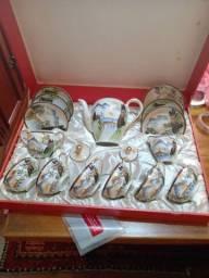 Aparelho chá porcelana casca de ovo japonesa