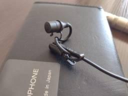 Microfone Lapela Sony  ECM 44b Omnidirecional conector XLR