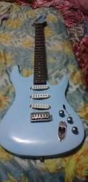 Guitarra strato azul