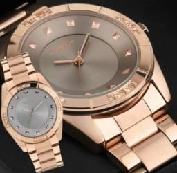 Relógio Euro Rose By Technos 100% Original Prova D'água Novo Lacrado!