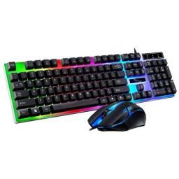 Mouse e teclado, game semi mecânico.