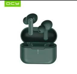 Fone de Ouvido Bluetooth QCY T10 Verde Original