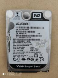 HD WD BLACK Notebook 320GB