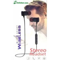 Fone Ouvido Sem Fio Bluetooth Magnético Esporte In-ear