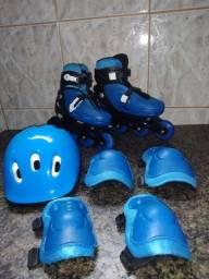 Kit patins com ajuste de tamanho