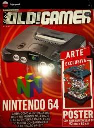 Coleção Old gamer Nintendo 64 + pôster