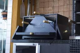 Churrasqueira Portátil de Carvão para Apartamento