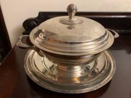 Conjunto de sopeira em prata