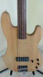 Fender Precision Bass, 5 cordas, fretless, ano 1990