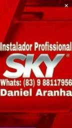 Técnico Instalador Antenista de Antenas, SKY, Claro, Oi e digitais