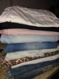 Pequeno lote de calças femininas