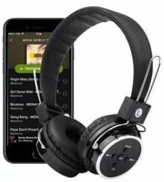 Fone Head Phone Para Ouvido Com Bluetooth P2 Cartão Sd Md