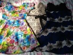 3 vestidos de festa (p/m)