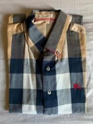 Camisa Burberry Tam G Usada apenas 1x, em Perfeito Estado!!!